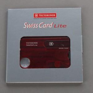 Victorinox瑞士军刀卡-红透明带灯0.7300.T