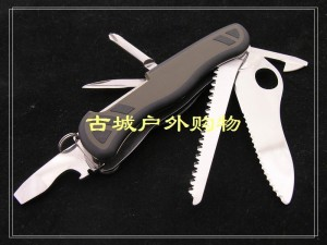 VICTORINOX瑞士军刀-中国士兵(绿黑胶防滑+线锁)0.8461.MWCH