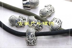 2012新款藏银刀坠吊饰-菩萨头