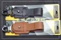 CooYoo Lear III型男士皮质钥匙扣经典纯牛皮腰带扣PB-KT-III  bk/bw