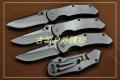 三刃木2014新款-全钢拉丝框架锁折刀7074LUC