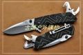 三刃木新款-带勾刀开瓶破窗7056LUF-GHP-T4线锁多功能刀