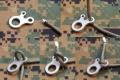 不锈钢CNC数控3孔式多用途快速结绳扣工具户外装备