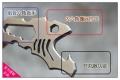 香港MG-水虎鱼N690钢小直项链随身刀挂颈刀户外救生多功能刀