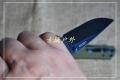 LAND新款三刃木9105黑色柄9106绿色柄石洗轴承快开折刀