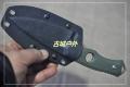 三刃木旋转硬鞘G10柄S725石洗金刚小直刀(双色)